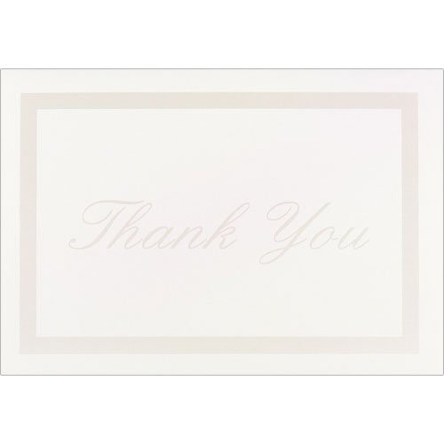 Pearl Border Ivory Thank You