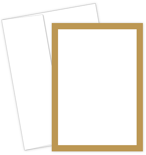 Great Papers Metallic Gold Border Invite