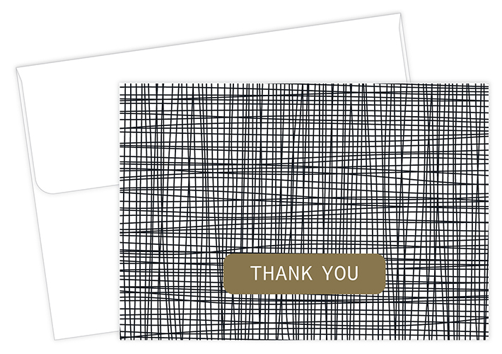 Cross Stitch Thank You Card 50