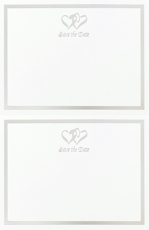 906684 - Silver Double Hearts