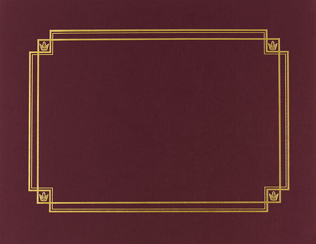Burgundy Linen Certificate Cover