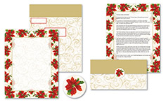 Poinsettia Swirl Self Mailer