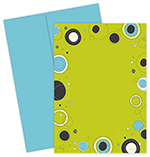 Outline Dots Lime Invite