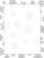 Icy Flakes Foil Letterhead