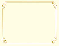 Golden Scroll Frame Foil Certificate