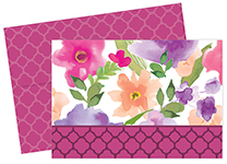 Watercolor Flora Note Card