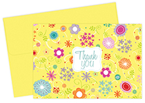 Spring Flowers Thank You Note