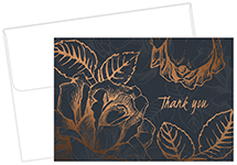 Copper Flower Thank You Card 5
