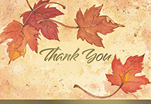 Fall Leaves Thank You 50CT