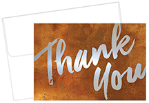Copper Wall Thank You Note card 50