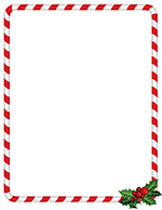 Candy Cane Holly Lh80