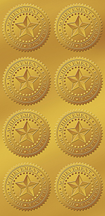 Star Gold Foil Seal