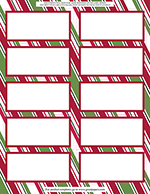Holiday Stripes Shipping Label