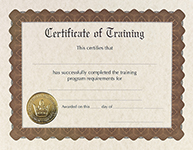 Training Stock Certificate
