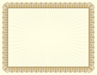Metallic Gold Value Certificate
